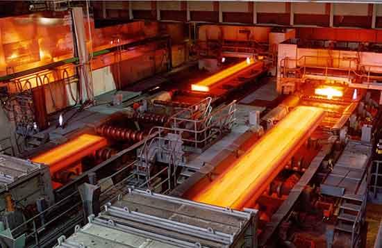 نورد گرم در کارخانه فولاد مبارکه